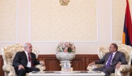 ՀՀ ԱԺ նախագահն ընդունեց Հայկական բարեգործական ընդհանուր միության նախագահին