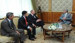 Նախագահ Սերժ Սարգսյանն ընդունել է «Հանիել գրուպ» ընկերության պատվիրակությանը
