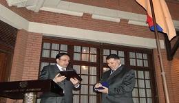 Մուհամմադ Ռեֆաթ ալ-Իմամը պարգևատրվել է ՀՀ արտաքին գործերի նախարարության մեդալով