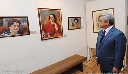 Նախագահ Սերժ Սարգսյանն այցելել է Մարտիրոս Սարյանի տուն-թանգարան