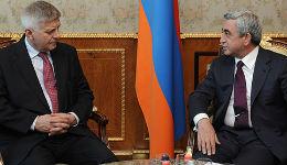 Սերժ Սարգսյանն  ընդունել է Լեհաստանի ազգային բանկի նախագահին
