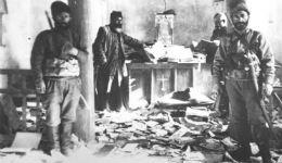 Աղթամարի վանքի գրապահոցը 1915 թ. թուրքական կողոպուտից հետո