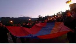 Ջահերով երթ և բողոքի ցույց՝ Վրաստանում