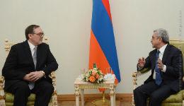 Սերժ Սարգսյանին հավատարմագրերն է հանձնել Հայաստանում ՌԴ նորանշանակ դեսպանը