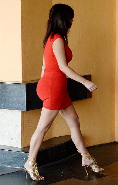 Kim Kardashian and Kanye West going to the movies in Calabasas