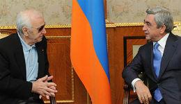 Դուք մեծ արվեստագետ եք, մեծ հայ և մեծ մարդ. Սերժ Սարգսյանը շնորհավորել է Շառլ Ազնավուրին