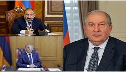 Արմեն Սարգսյանը, Նիկոլ Փաշինյանը և Արա Բաբլոյանը քննարկել են երկրում ստեղծված ներքաղաքական իրավիճակը